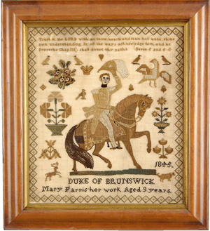 Witney Antiques October 2011 Exhibition: SAMPLERS - PRODUCTS OF A YOUTHFUL MIND - Duke of Brunswick